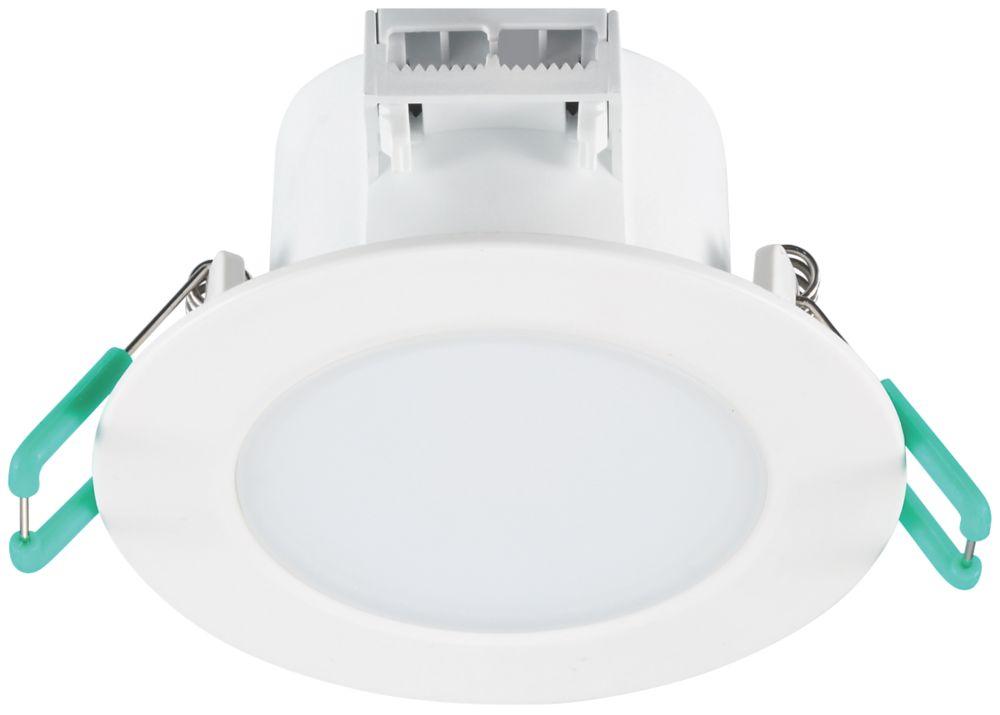 Sylvania Start Eco Spot Fixed  LED Downlight White / Silver 540lm 7W 220-240V