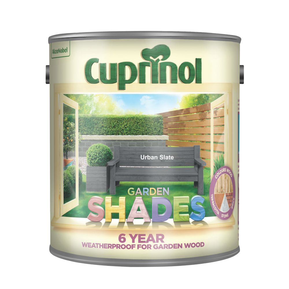 Cuprinol Garden Shades Woodstain Matt Urban Slate 2.5Ltr