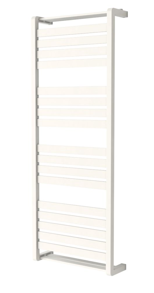 GoodHome Loreto Vertical Water Towel Warmer 1300 x 500mm White 2317BTU