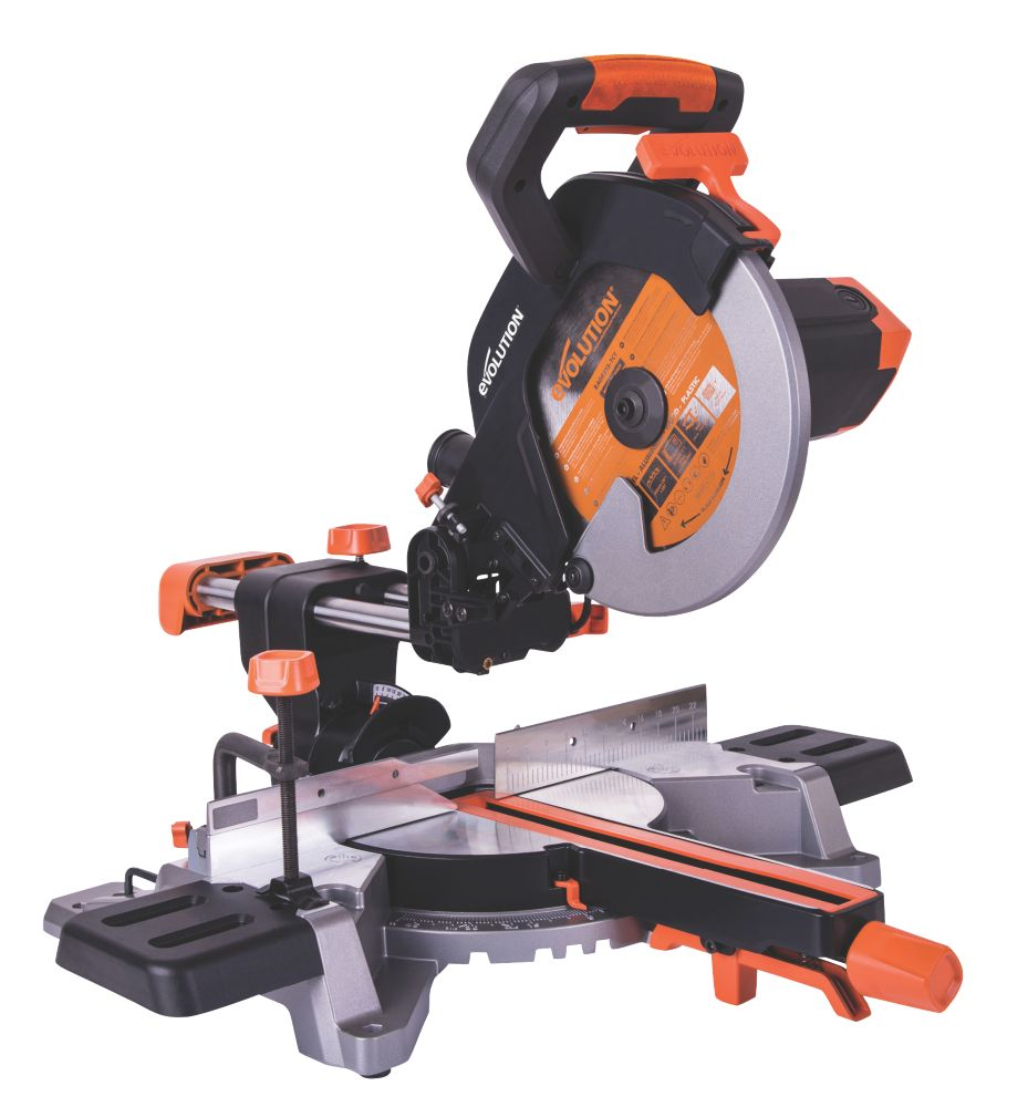 Evolution R255SMS 255mm  Electric Single-Bevel Sliding Mitre Saw 220-240V