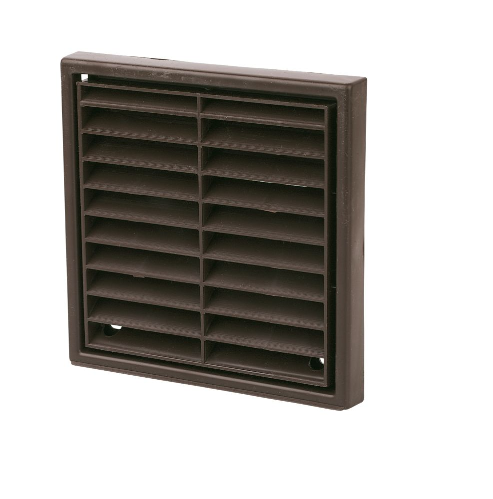 Manrose Fixed Louvre Vent Brown 100 x 100mm