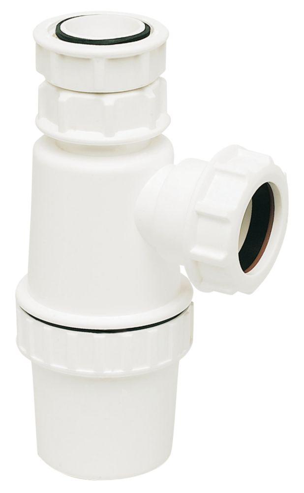FloPlast Telescopic Bottle Trap White 40mm