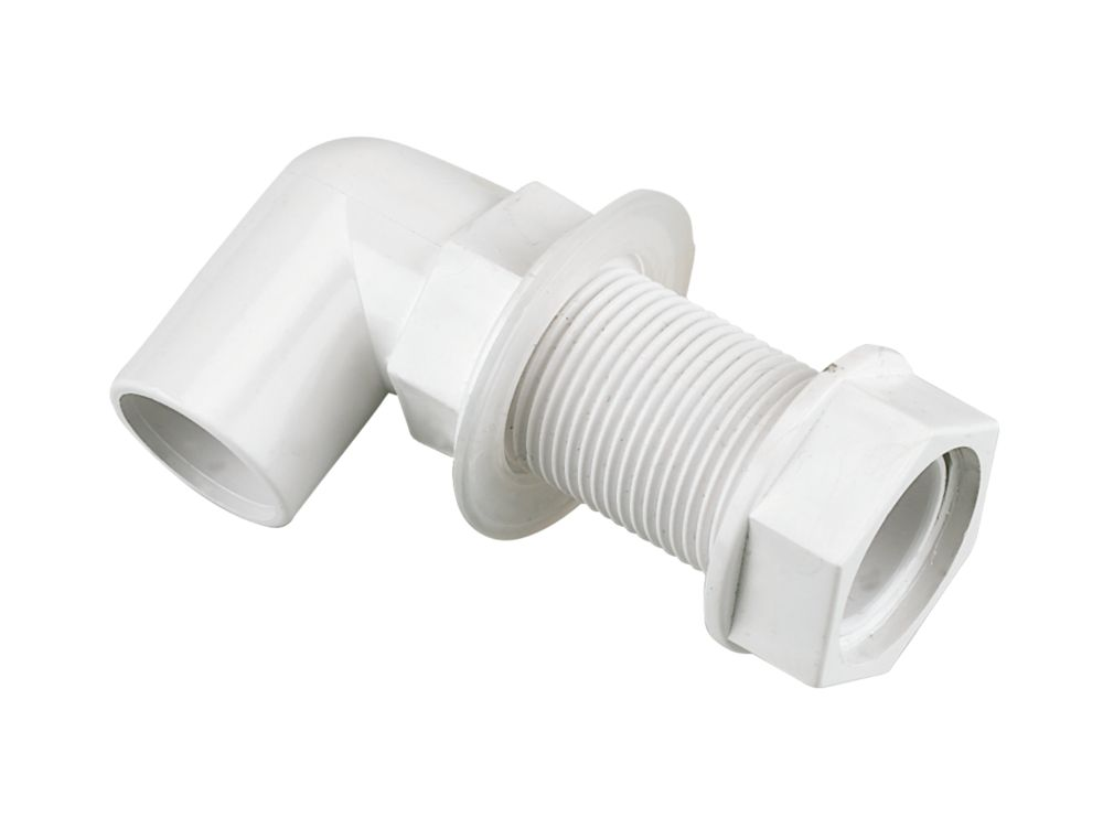 FloPlast Bent Tank Connector White 21.5mm 5 Pack