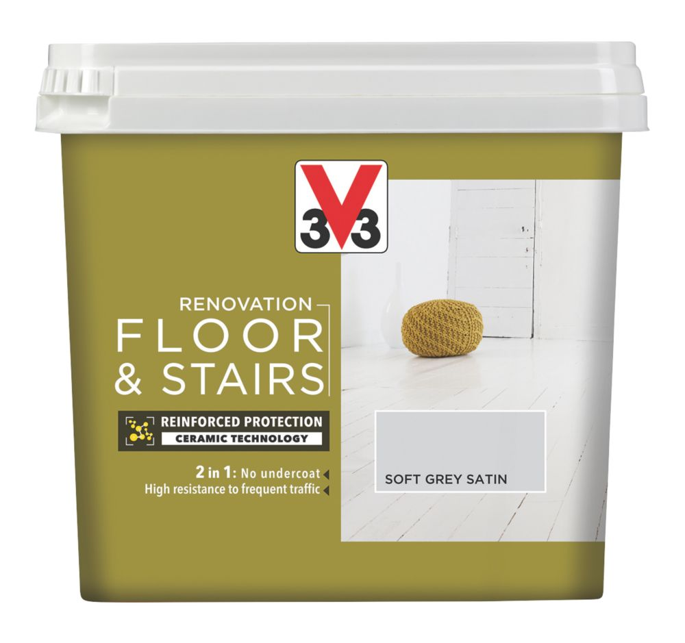 V33 Floor & Stair Paint Soft Grey 750ml