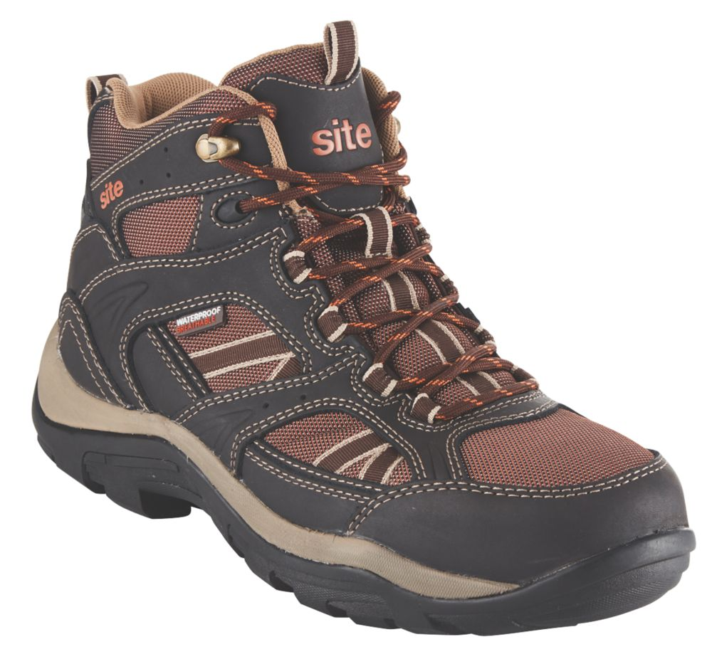 Site Ironstone   Safety Boots Brown Size 11