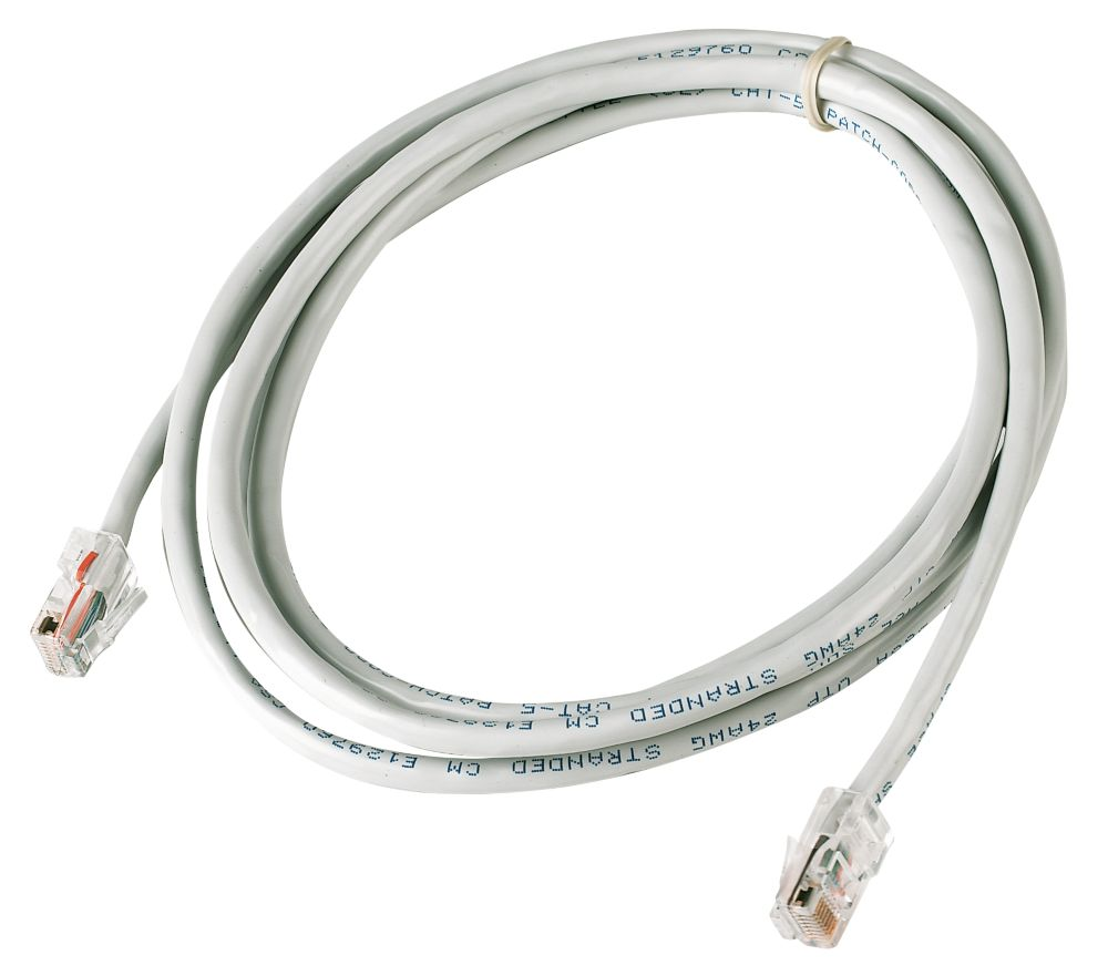 Beige Unshielded RJ45 Cat 5e Ethernet Cable 0.5m