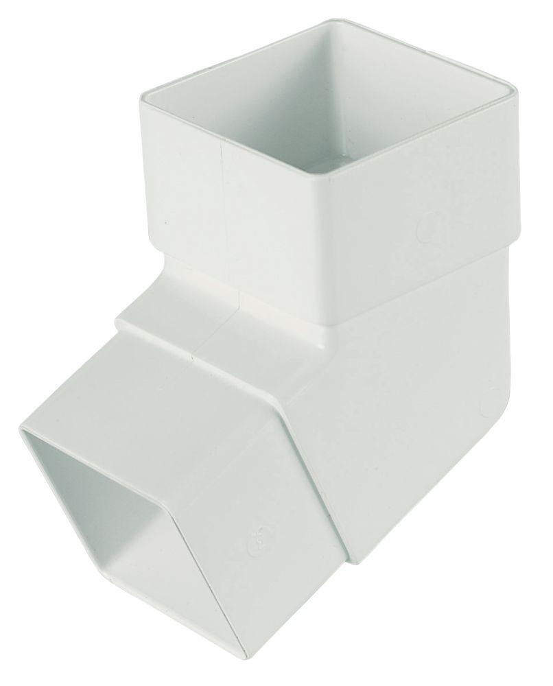 FloPlast Square Line 112.5° Offset Bend 65mm White