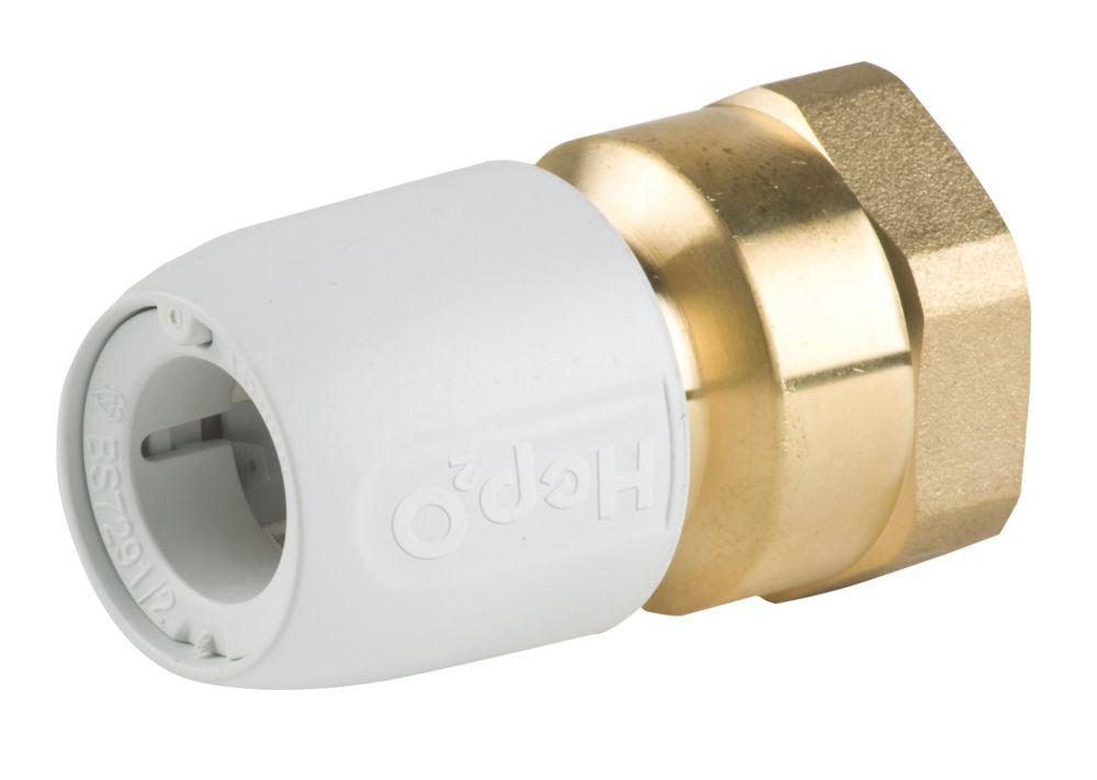 "Hep2O  Plastic Push-Fit Adapting Female Coupler 15mm x ½"""