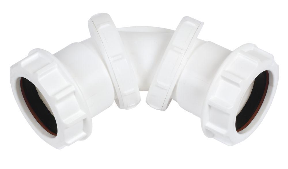 FloPlast WC23 Universal Compression Waste Adjustable Bend  40mm