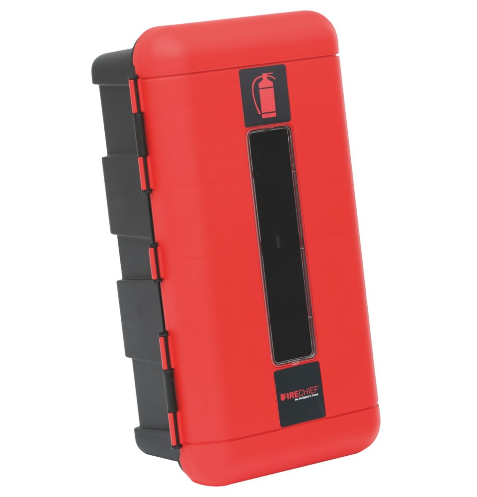 Firechief 106-1000 Single Extinguisher Cabinet 335 x 240 x 620mm Red / Black