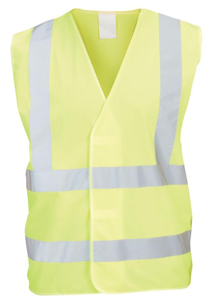 "Hi Vis Waistcoat Yellow Large / X Large 50¼"" Chest"