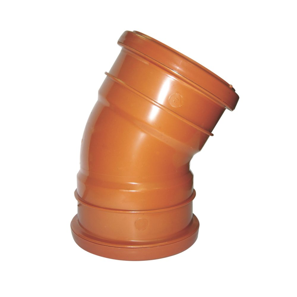 FloPlast Double Socket Bend 30° 110mm