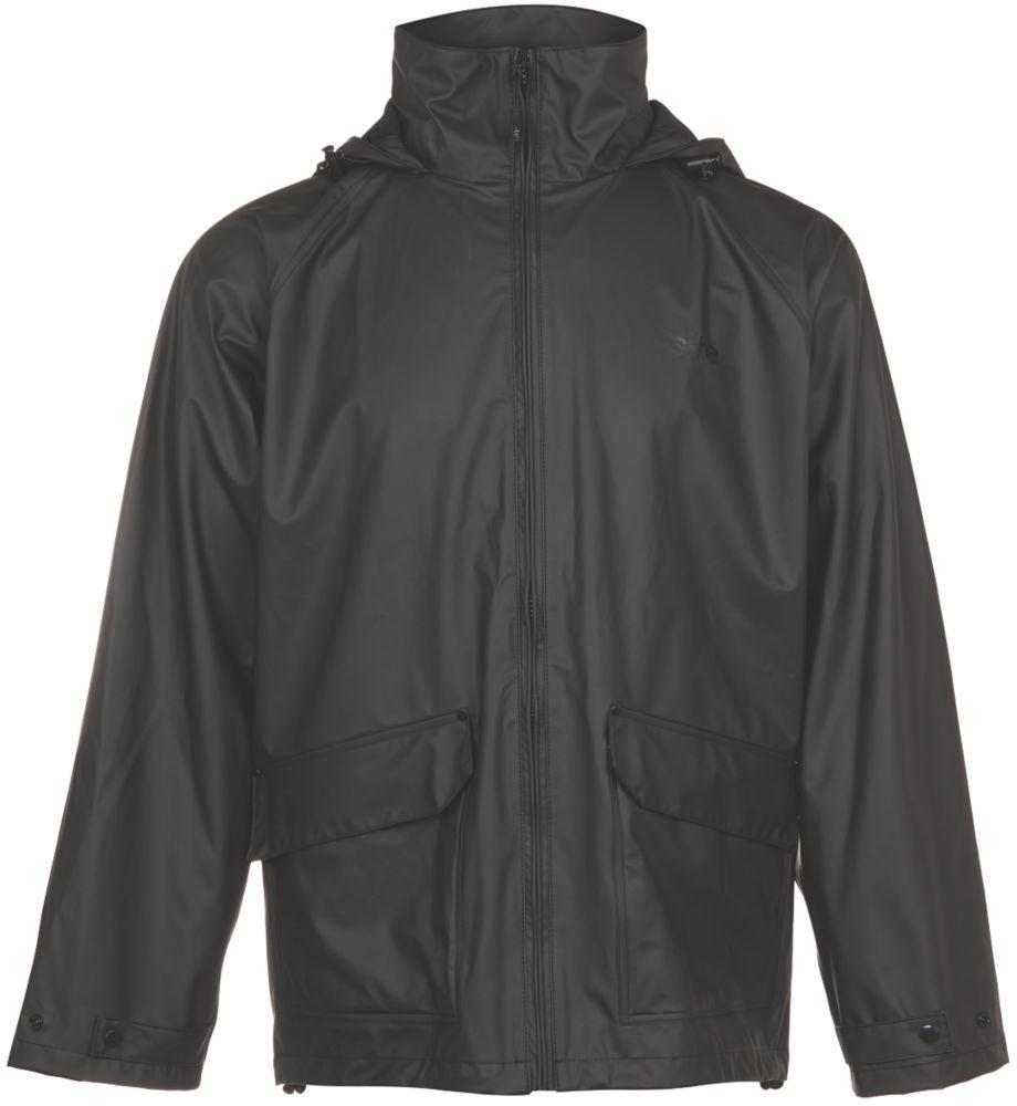 "Site Cenote Jacket Black Waterproof Medium Size 48"""