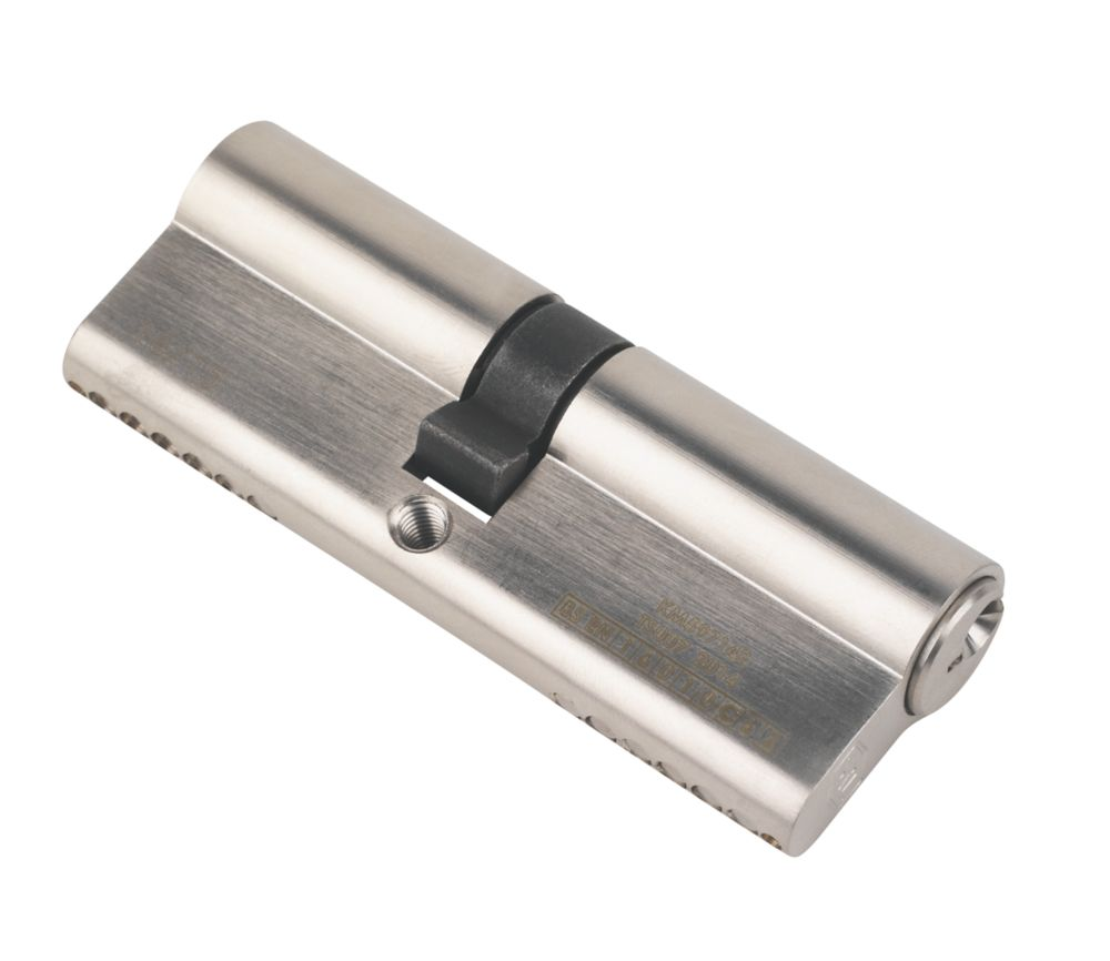 Smith & Locke  1* 6-Pin Double Euro Cylinder Lock 40-45 (85mm) Polished Nickel
