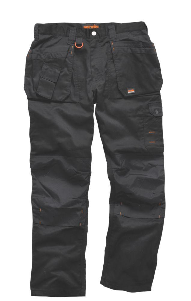 """Scruffs Worker Plus Work Trousers Black 36"""" W 33"""" L"""
