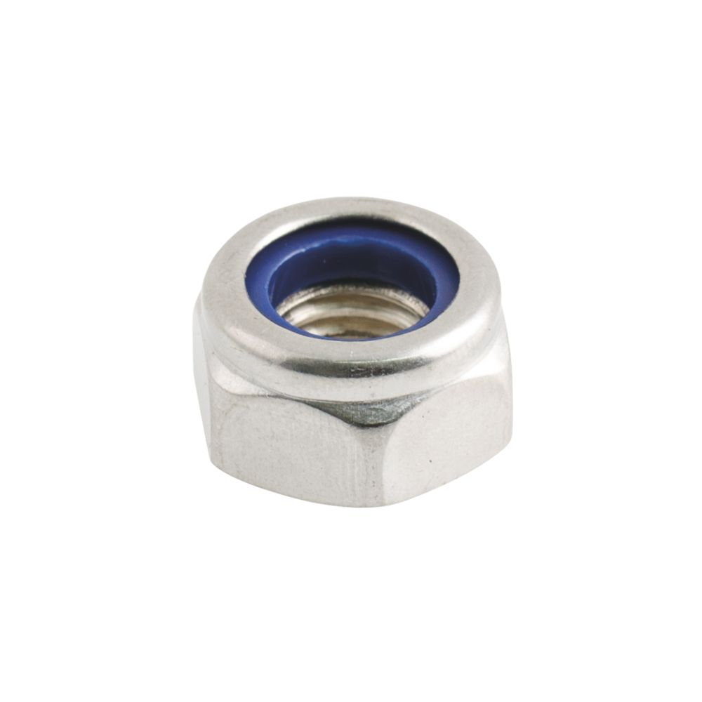 Easyfix A2 Stainless Steel Nylon Lock Nuts M10 100 Pack