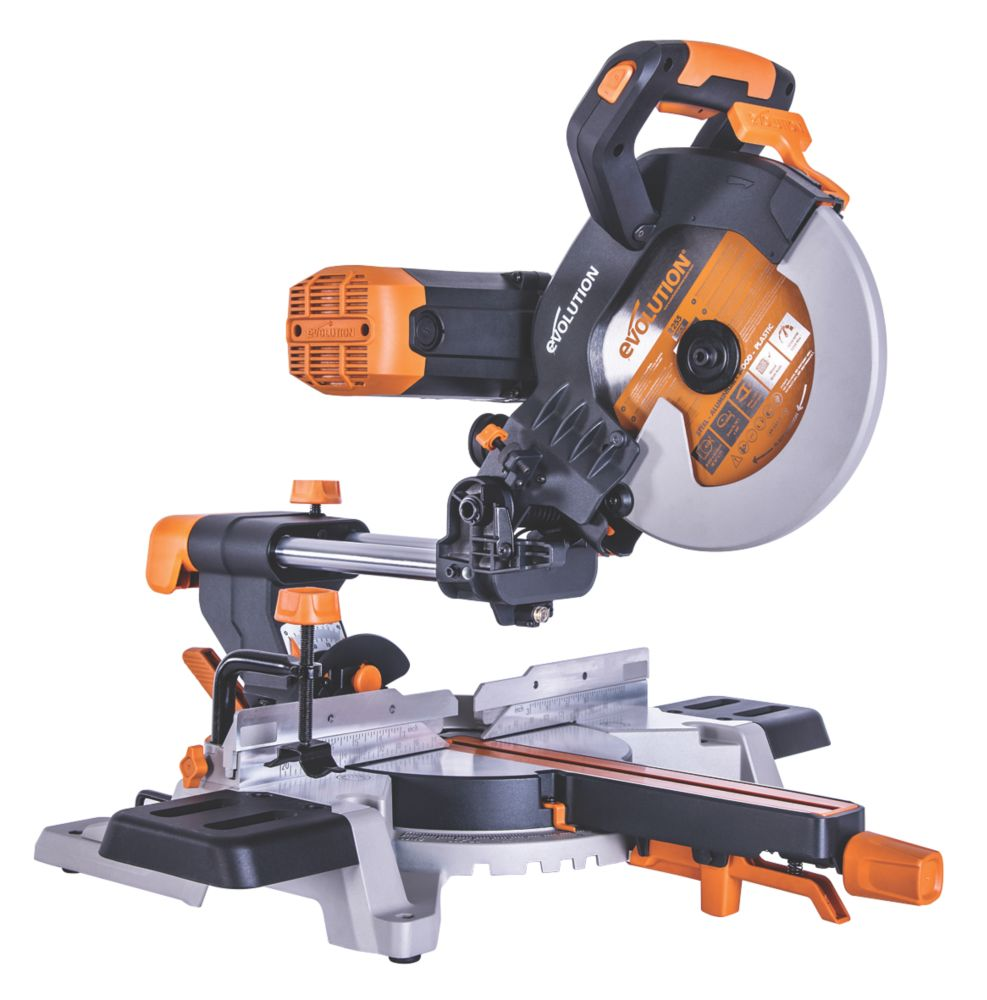 Evolution R255SMS-DB 255mm  Electric Double-Bevel Sliding Mitre Saw 230V