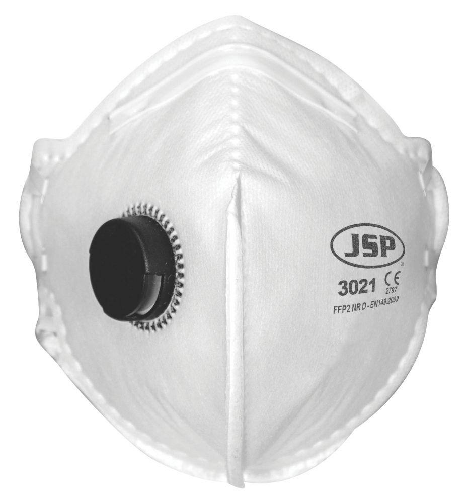 JSP  Fold Flat Valved Masks P2 2 Pack