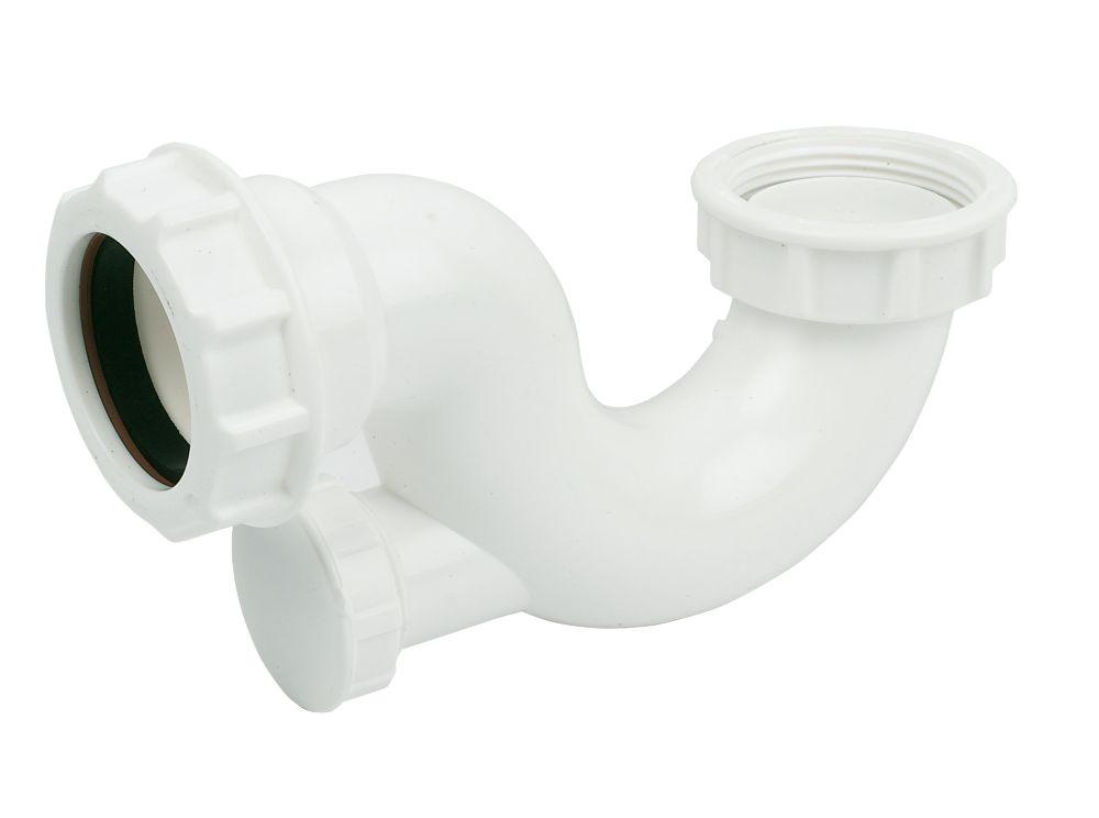 FloPlast Shallow Bath Trap White 40mm