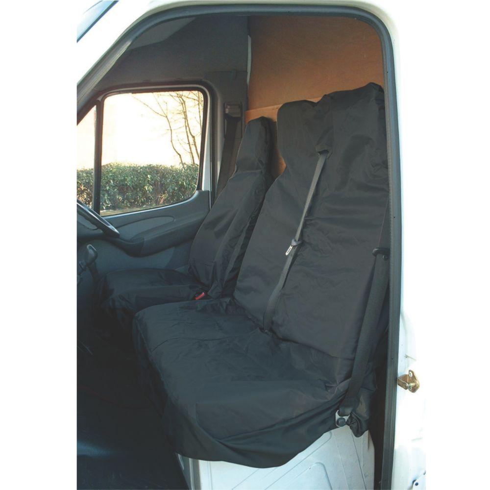 Maypole Universal Van Seat Cover Set Black 2 Pieces