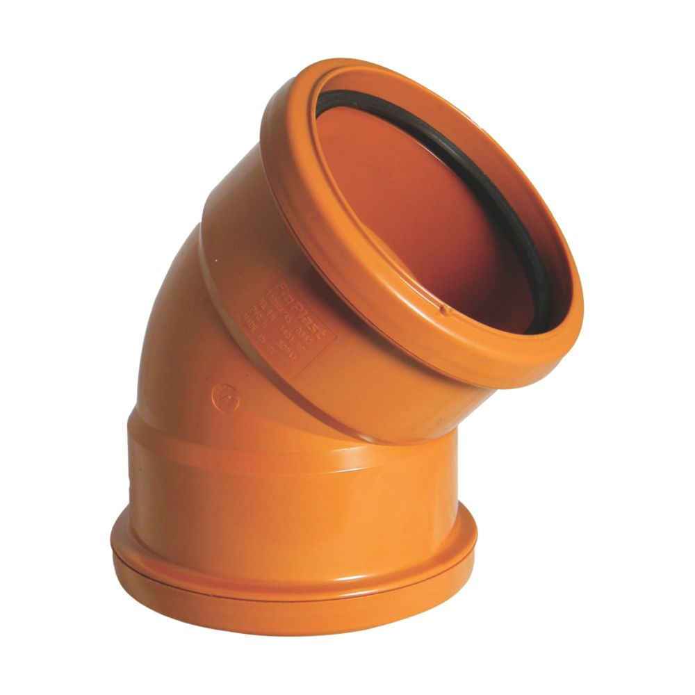 FloPlast Double Socket Bend 45° 110mm