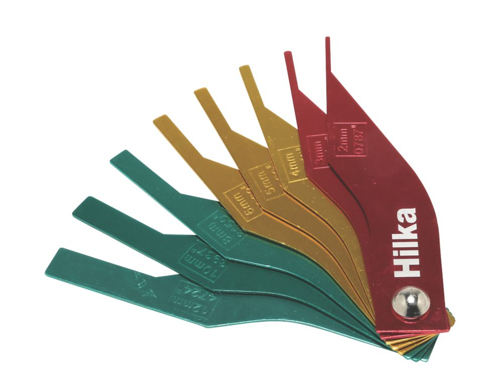 Hilka Pro-Craft Brake Pad Thickness Gauge Set 8 Pieces