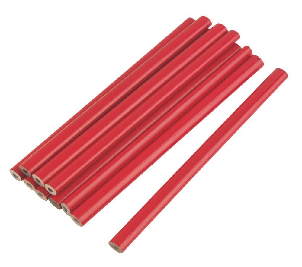 175mm Carpenters Pencils HB 10 Pack