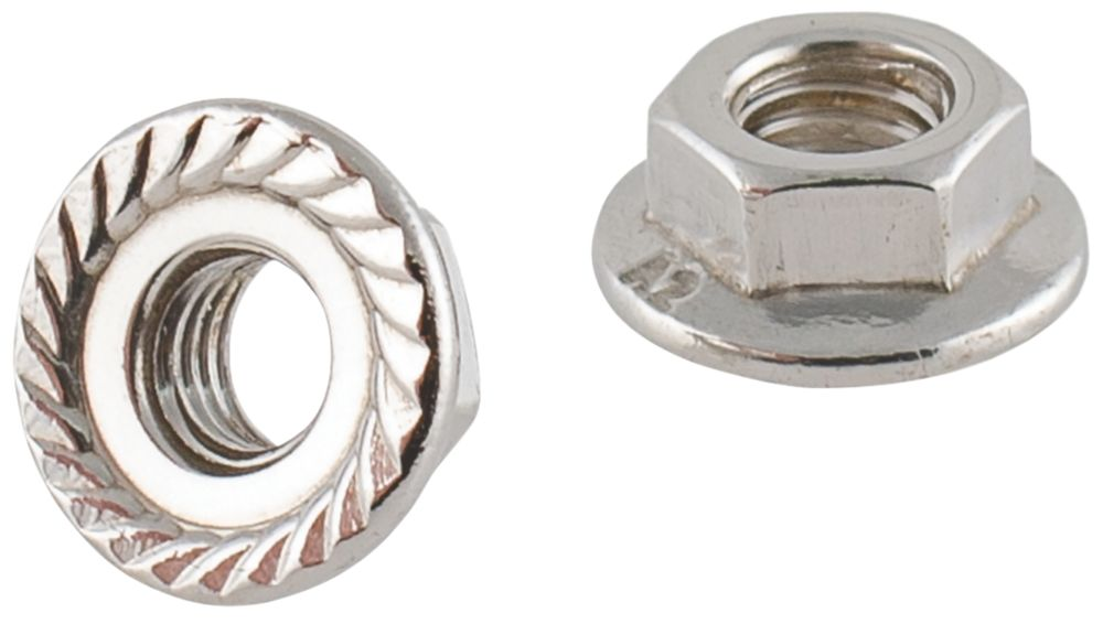 Easyfix A2 Stainless Steel Flange Head Nuts M5 100 Pack