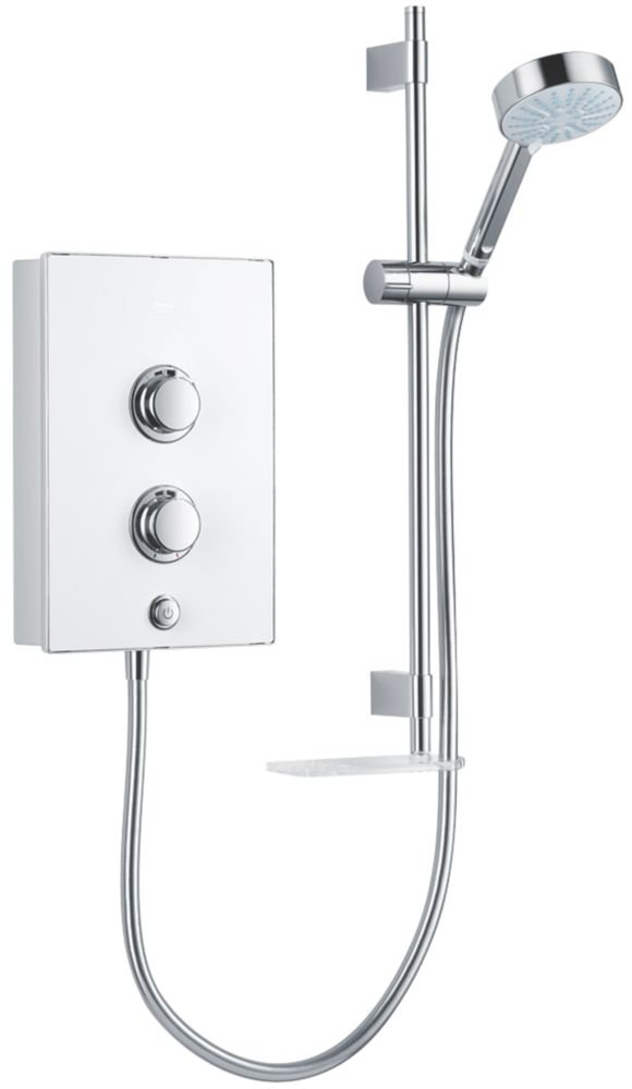 Mira Decor White / Chrome 8.5kW  Manual Electric Shower