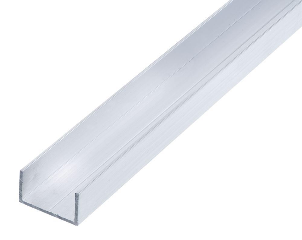 Alfer Raw Aluminium U-Profile 1000 x 19.5 x 11.5mm