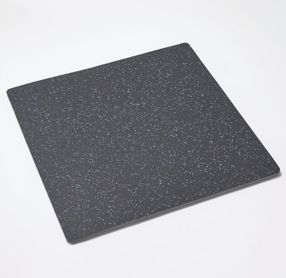 Mottez  Shock-Absorbing Floor Mat Grey / Blue 620 x 620mm