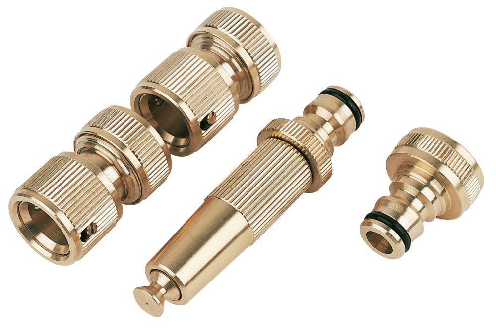 Brass Hose Fitting Set 4 Pieces 4 Pcs