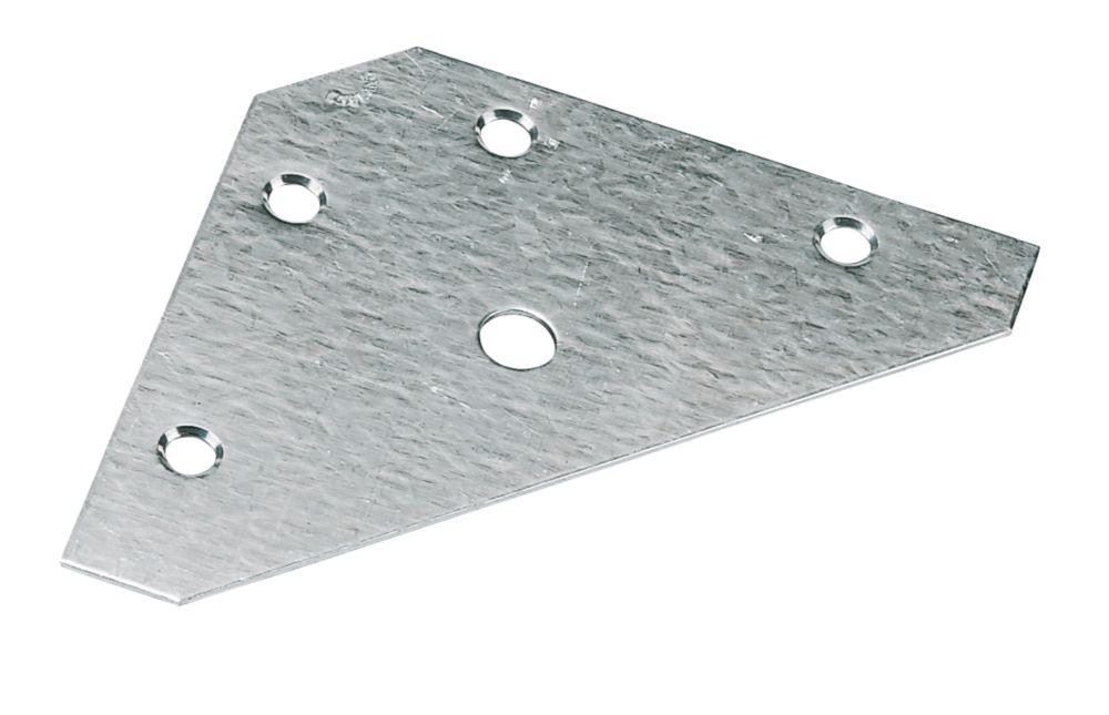 Corner Plates Zinc-Plated 83 x 0.9 x 83mm 10 Pack