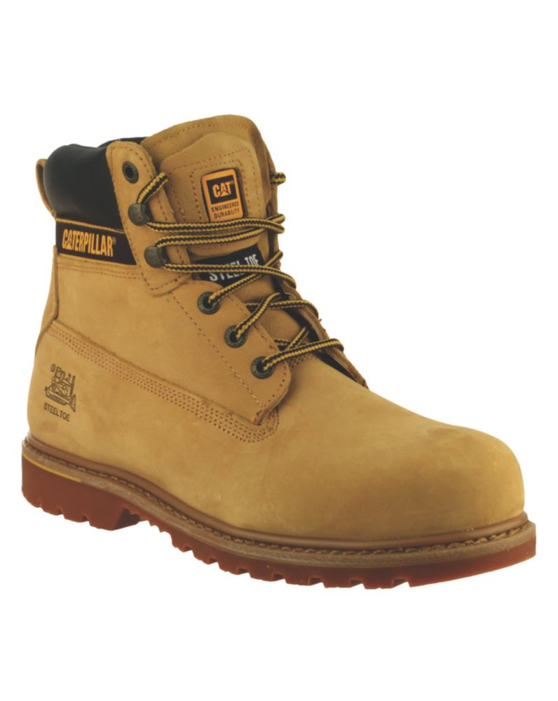 CAT Holton S3   Safety Boots Honey Size 11