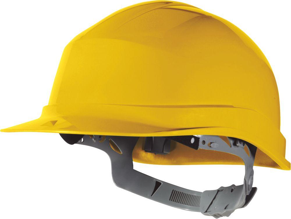 Delta Plus Zircon 1 Essential Slip Ratchet Safety Helmet Yellow