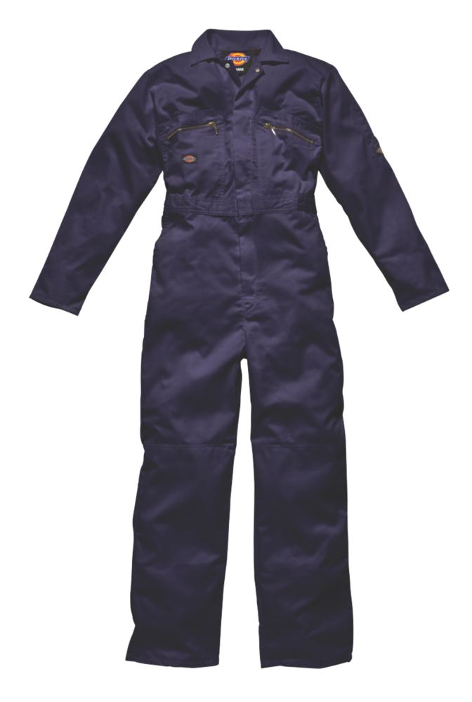 """Dickies Redhawk Zip Front Coverall Navy XX Large 48"""" Chest 30"""" L"""