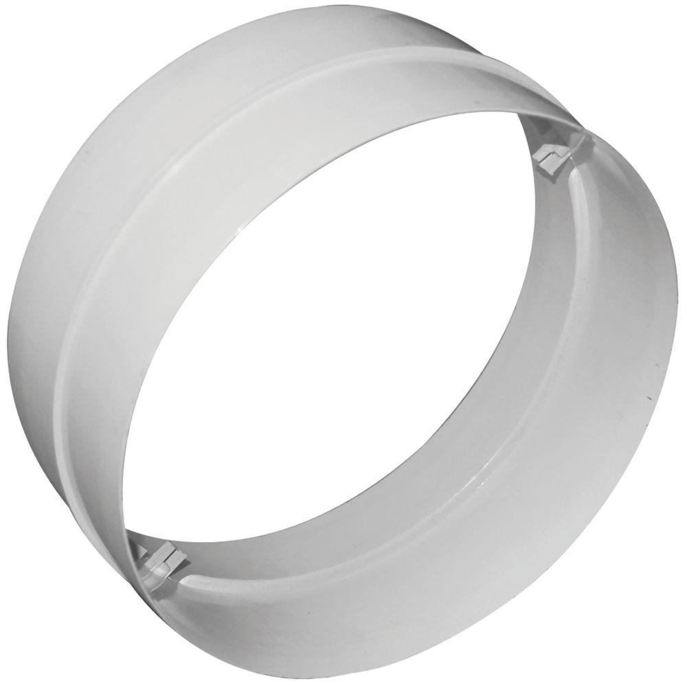 Manrose Round Connector White 150mm