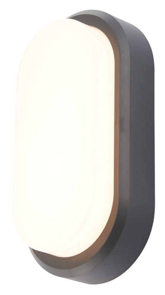 Almond  LED Oval Bulkhead Black 10W