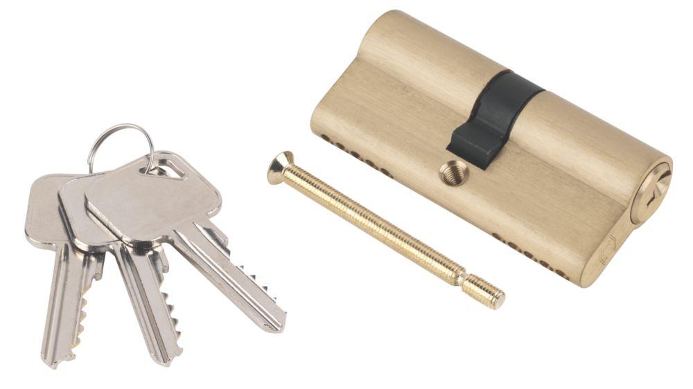 Smith & Locke 5-Pin Euro Double Cylinder Lock 35-35 (70mm) Brass