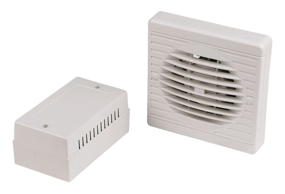 Manrose XF100LVT/SC 10W Bathroom Extractor Fan with Timer White 12V