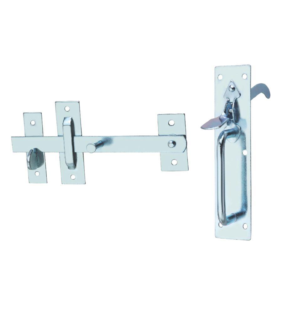 Hardware Solutions Suffolk Gate Latch Kit Silver