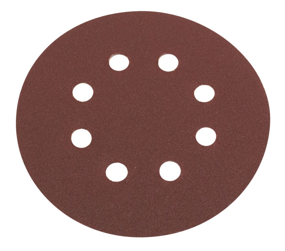 Flexovit  Sanding Discs Punched 125mm 120 Grit 6 Pack