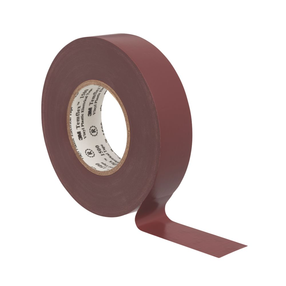 3M Temflex Insulating Tape Brown 25m x 19mm