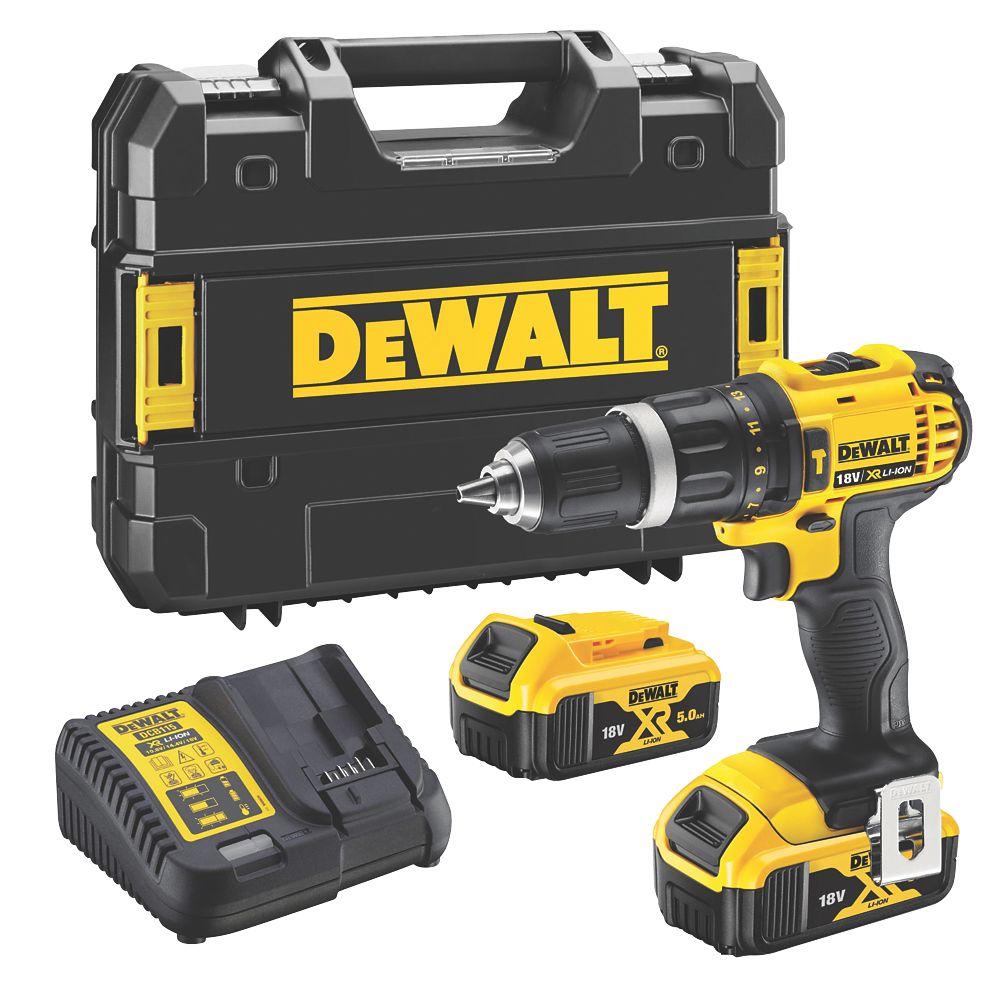 DeWalt DCD785P2T-SFGB 18V 5.0Ah Li-Ion XR  Cordless Combi-Hammer Drill
