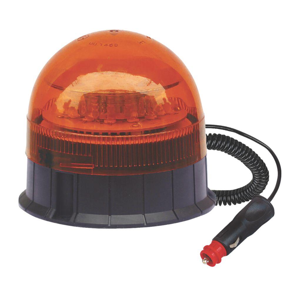 Maypole Amber Magnetic LED Beacon 12 x 3W 200mm