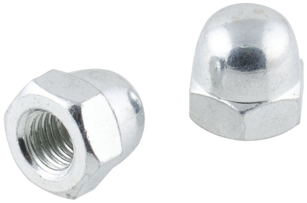 Easyfix Carbon Steel Dome Nuts M10 100 Pack
