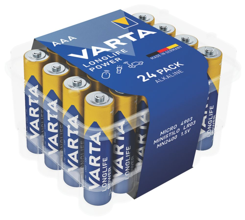 Varta Longlife Power AAA High Energy Batteries 24 Pack