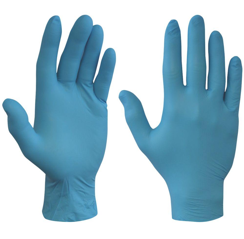 Sempercare  Nitrile Powder-Free Disposable Gloves Blue Medium 100 Pack