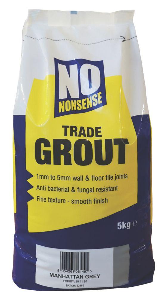No Nonsense  Wall & Floor No Mould Grout Manhattan Grey 5kg