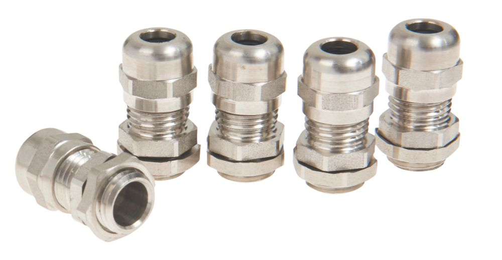 Schneider Electric 304L Stainless Steel Cable Glands  M20 4 Pack